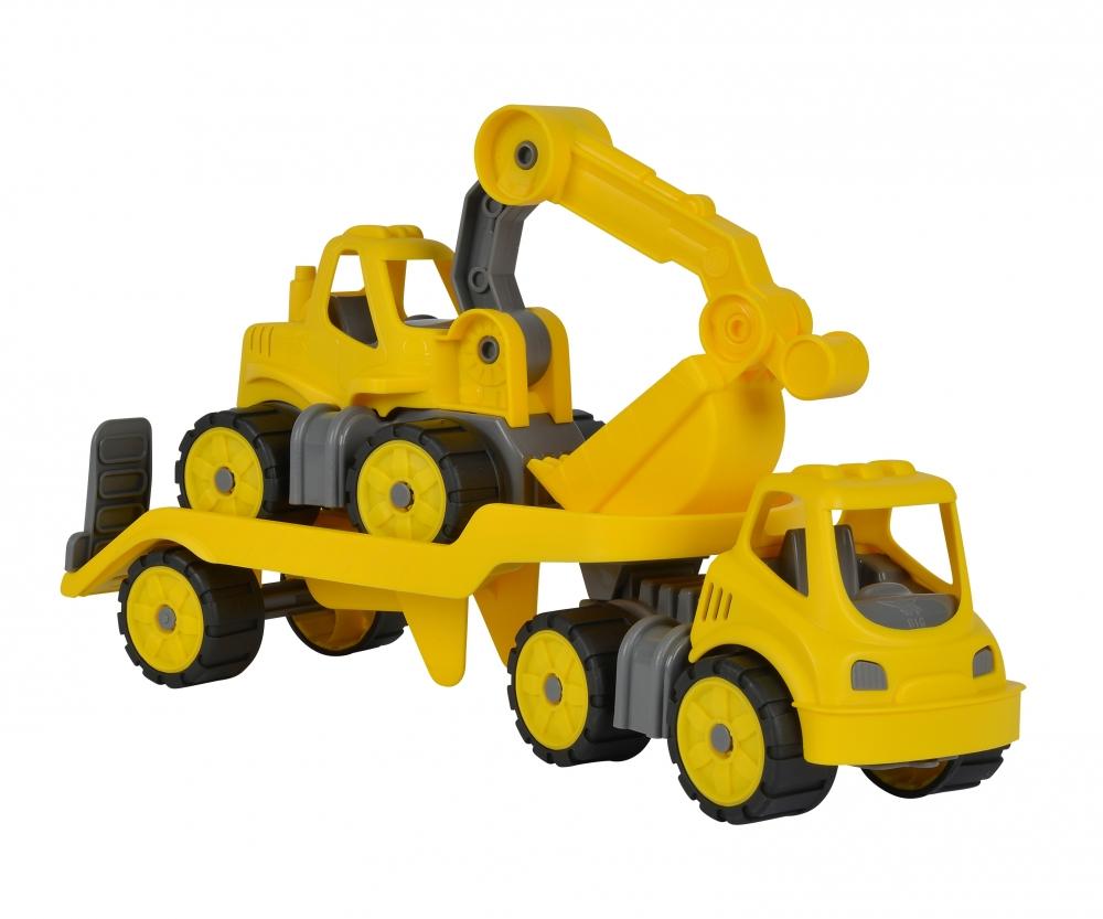 big power worker mini transporter bagger spielfahrzeuge fahrzeuge. Black Bedroom Furniture Sets. Home Design Ideas