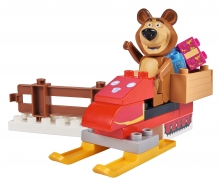 PlayBIG Bloxx Masha and the Bear - Bear's Snowmobile