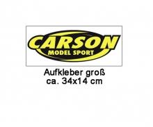 Carson Aufkleber, groß 34 x 14 cm