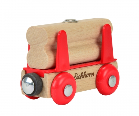 Eichhorn Train Wagon with Wood Load, 2 pcs.