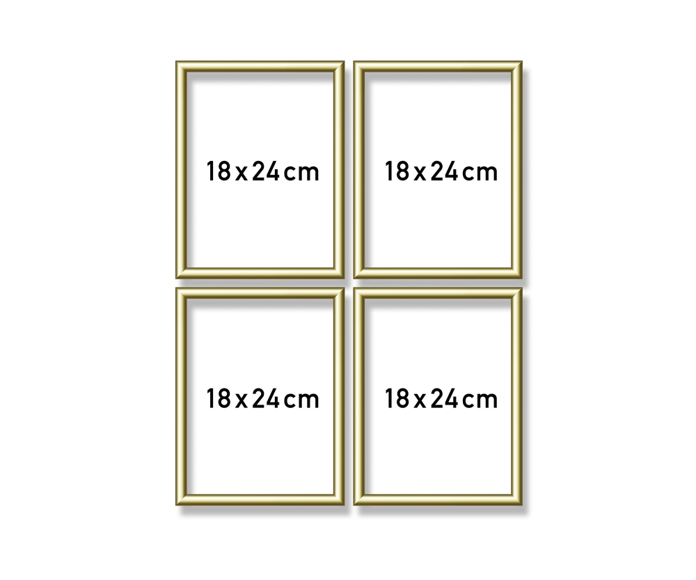 cadre en aluminium quattro 18 x 24 cm cadres en aluminium accessoires. Black Bedroom Furniture Sets. Home Design Ideas