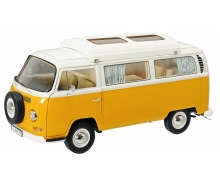 VW T2a Campingbus, orange-weiß 1:18