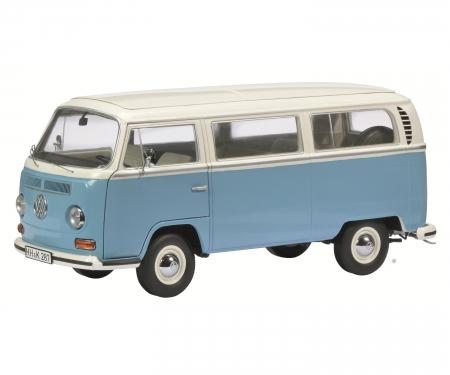VW T2 a Bus L, weiß-blau, 1:18