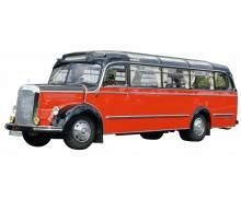 Mercedes-Benz O3500, rot-schwarz 1:18