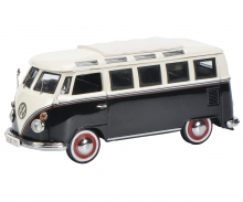 VW T1c Samba Bus, schwarz weiß 1:43