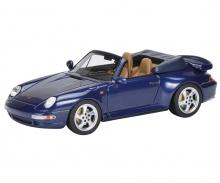 Porsche 911 (993) Turbo Cabriolet, blau 1:43
