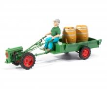 Holder EDII mit Anhänger, Fahrerfigur und Weinfässer, 1:32