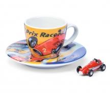 "Set Schuco Espressotasse Edition V ""Grand Prix Racer"" mit Piccolo Grand Prix Racer"
