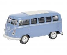 VW T1 Bus, blau, 1:64