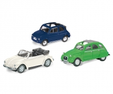 """3er-Set """"Cabrio-Classics"""" Fiat 500, Citroën 2CV, Käfer Cabrio, 1:87"""