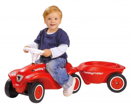 big BIG-New-Bobby-Car-Trailer Red