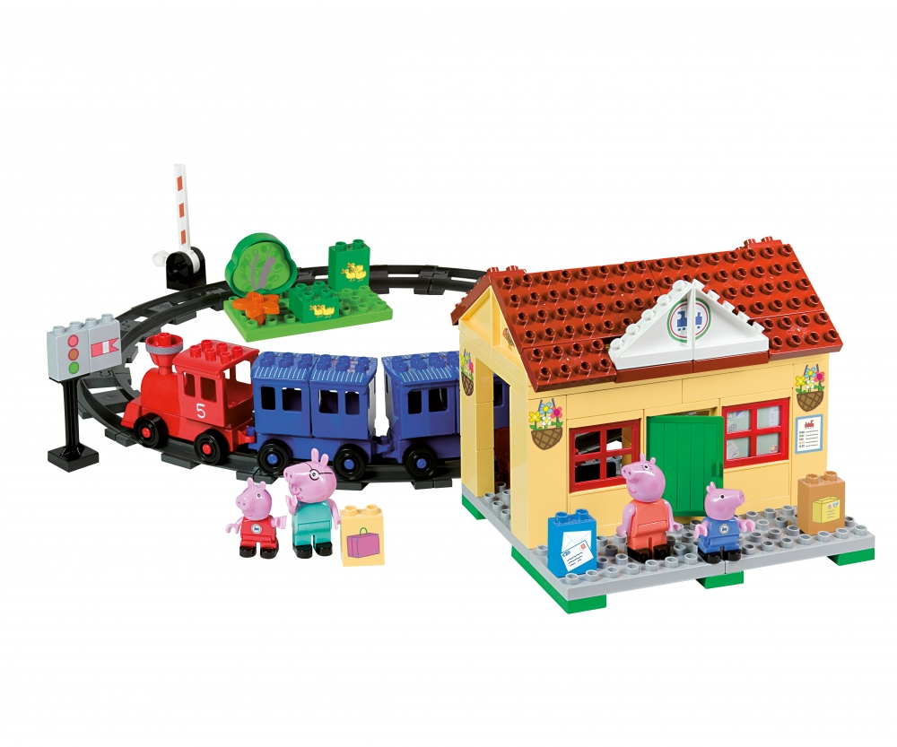 Playbig bloxx peppa pig train station spielzeug baby