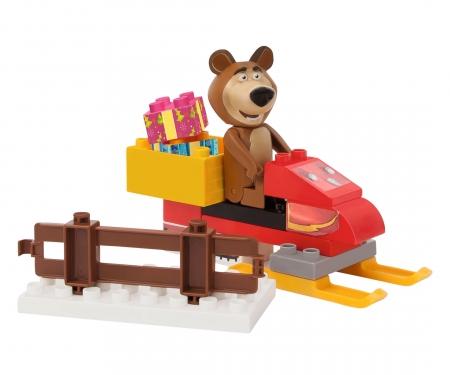 big PlayBIG Bloxx Masha and the Bear - Bear's Snowmobile