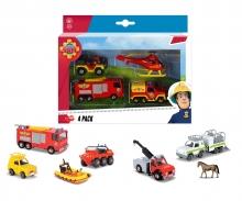 DICKIE Toys Feuerwehrmann Sam 4 Pack, 3-sort.