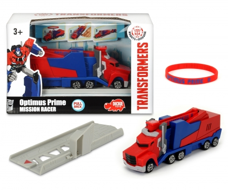 DICKIE Toys Transformers Mission Racer Optimus Prime