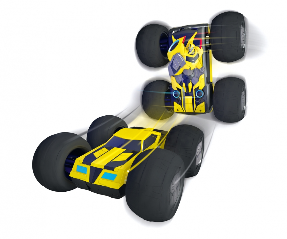 Toy Cars That Flip Over : Transformers rc flip n race bumblebee rtr
