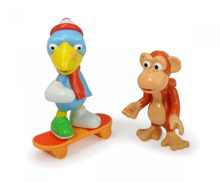 DICKIE Toys Heroes of the City Figure set Calamity Crow and the monkey