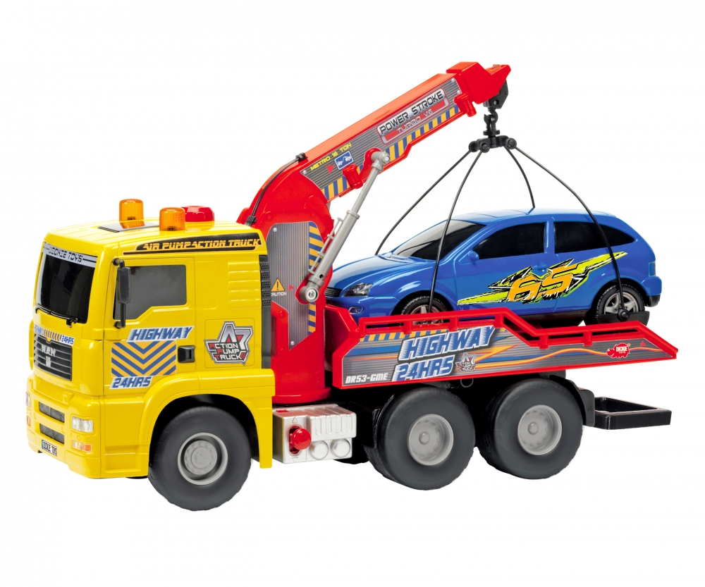 Trucks in Action Toys Pump Action Tow Truck