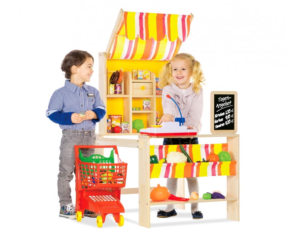 kaufladen mit markise holz von eichhorn. Black Bedroom Furniture Sets. Home Design Ideas