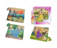 Disney Princess Einlegepuzzle, 4-sort.