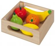 Eichhorn Holzbox mit Früchten