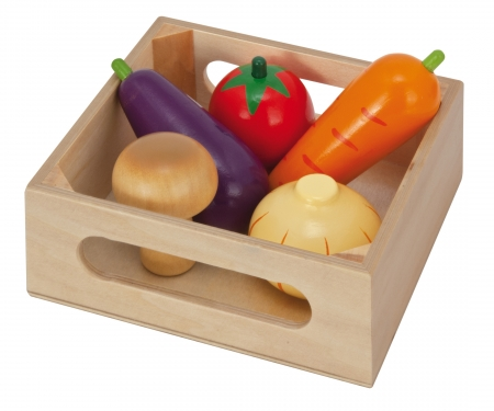 Eichhorn Holzbox mit Gemüse