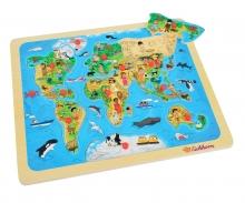 Eichhorn Steckpuzzle, Weltkarte