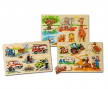 Eichhorn Steckpuzzle, 3-sort.