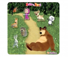 Masha and the Bear Magnetic Puzzle