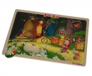 Masha and the Bear Steckpuzzle