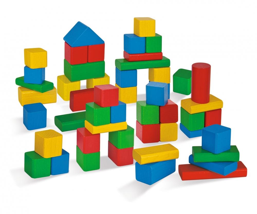 HEROS Wooden Building Blocks 50 - Wooden building bricks ...