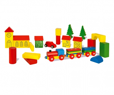HEROS Wooden Building  Blocks 32