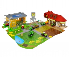 Creatix Farm Big Playset + 1 Traktor + 1 Trailer