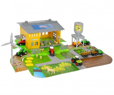 Creatix Farm Stable Playset + 1 Traktor + 1 Trailer