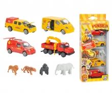 Pinder Set 4 Pièces + Figurines