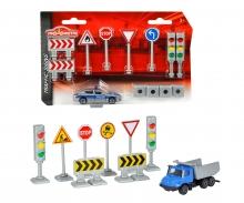 Traffic Signs + 1 Car