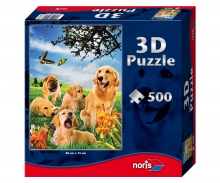 """Puzzle 500 Teile mit 3D-Effekt """"Hunde"""""""