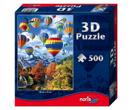 Puzzle 500pcs w.3DEffects hot-air ballon