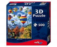 Puzzle 500pcs w.3DEffects hot-air ballon