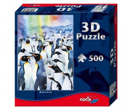 Puzzle 500 pcs with 3D effects -Penguins