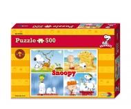 Peanuts Puzzle 500pcs Schoolbus