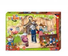Leo Lausemaus - Puzzle 2x24tlg.