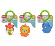 simba ABC Rattle with Clip, 3-ass.