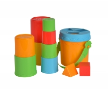 simba ABC Stacking Tower in Bucket