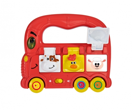 simba ABC Push-along Bus with Light & Sound