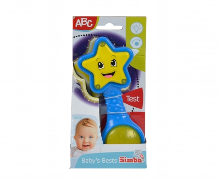 simba ABC Star Rattle with Light