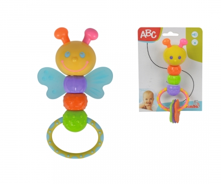simba ABC Rattle with Teething Parts, 2-ass.