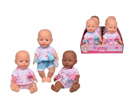 simba New Born Baby Vinyl Baby, 3-ass.