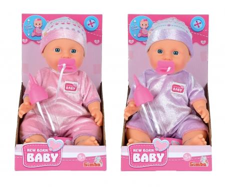 simba New Born Baby Cuddly Soft, 2-ass.
