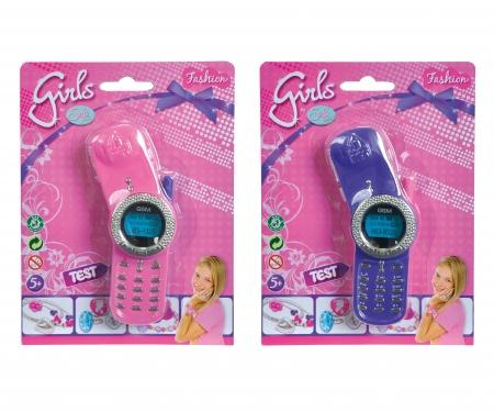 simba Steffi LOVE Girls Glitter Mobile Phone, 2-ass.
